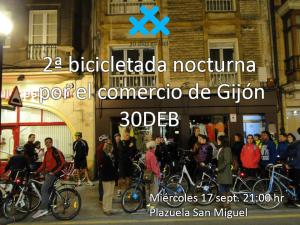 bici nocturno Gijón
